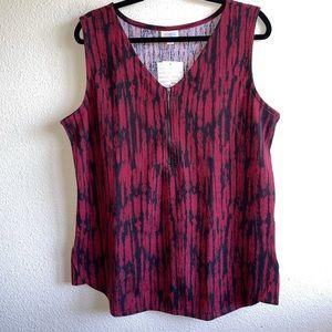 LuLaRoe Crimson Red & Black Rachel Tank Top